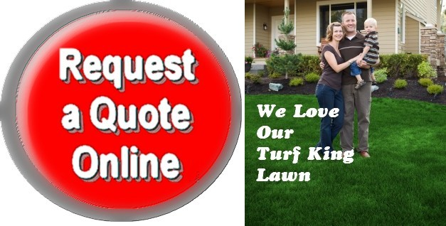 Request a lawn Care Quote from Turf King